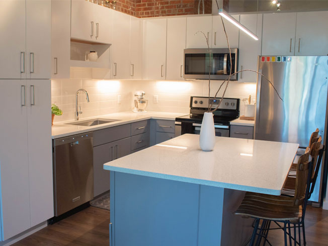 Mueller Loft L Shape Kitchen