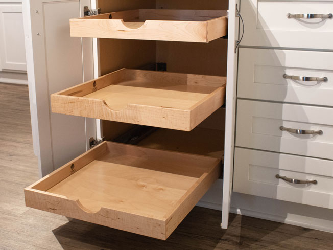 Storage and Organization Roll Out Shelves