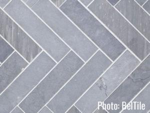 Review of Bath Trends Herringbone Tile