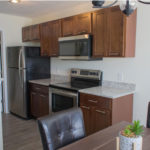 Ashton Place Townhomes Lexington Brown Shaker Cabinet