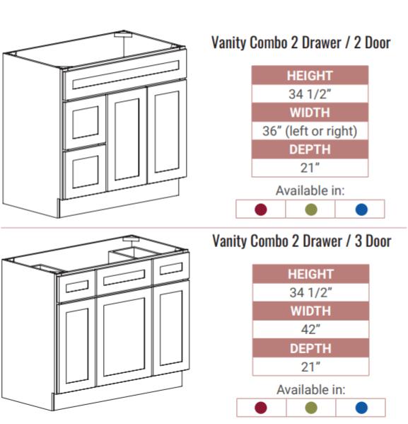 bathroom vanity configurations