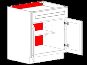 back panels cabinets