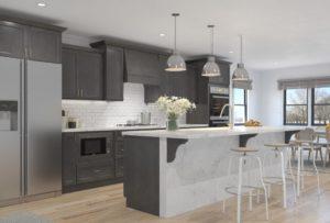 dark Shaker Style kitchen cabinets
