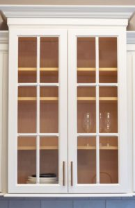 bar cabinet with glass doors