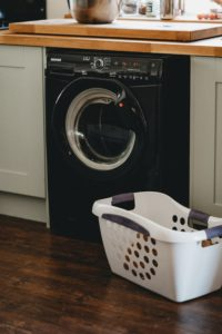 washer with workspace on top